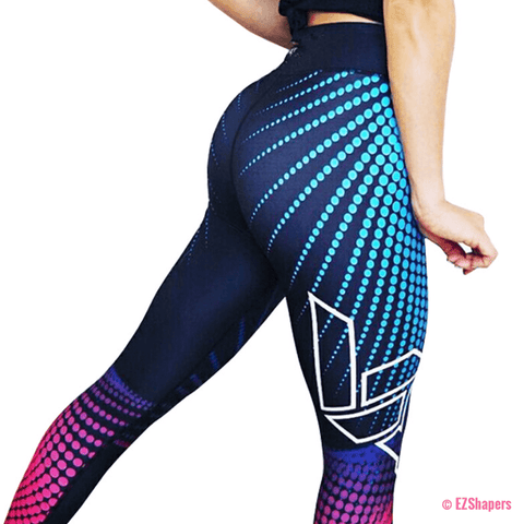 Image of Breathable Fitness Colorful Dots Leggings