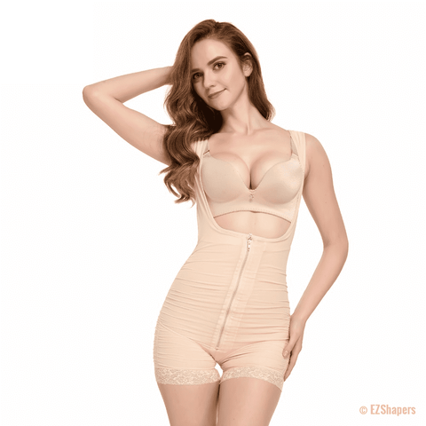 Image of Beige Solid Maternity Shapewear