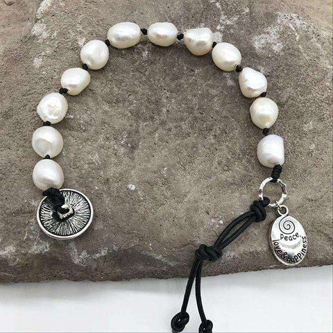Image of Natural Freshwater Pearl Rope Bracelet