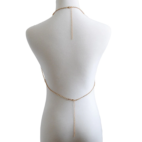 Image of Punk Gold Crystal Body Chain