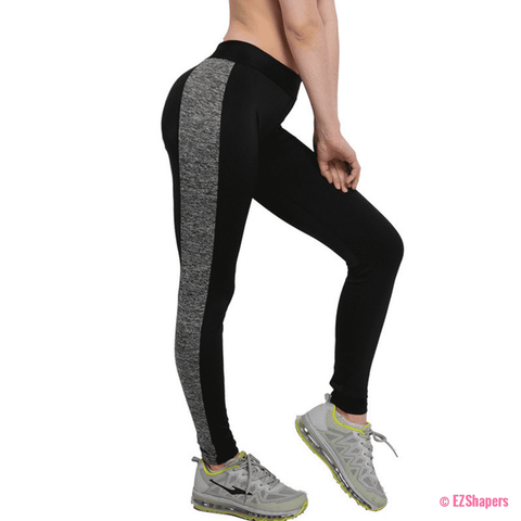 Image of Workout Black & Gray Patchwork Leggings