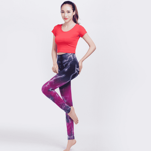 Image of Electrifying High Elastic Leggings