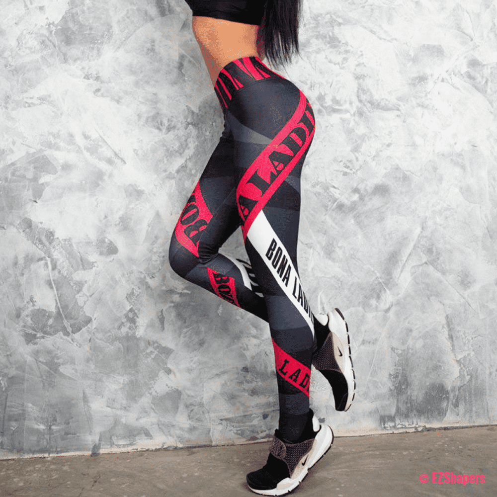 Sexy High Waist Letter Printed Leggings