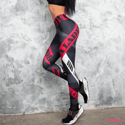 Image of Sexy High Waist Letter Printed Leggings