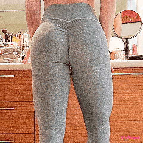 Image of Solid Fitness Push Up Leggings