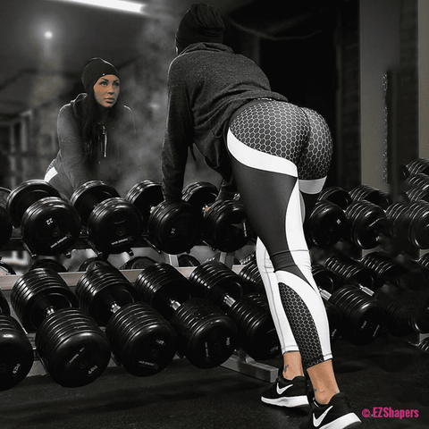 Image of Workout Honeycomb High Waist Leggings