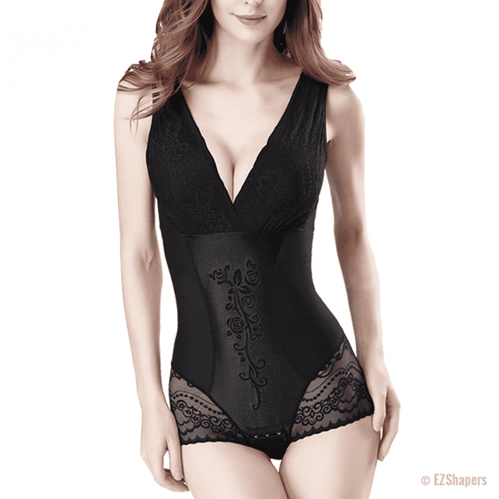 Sexy Deep V Lace Body Shaper