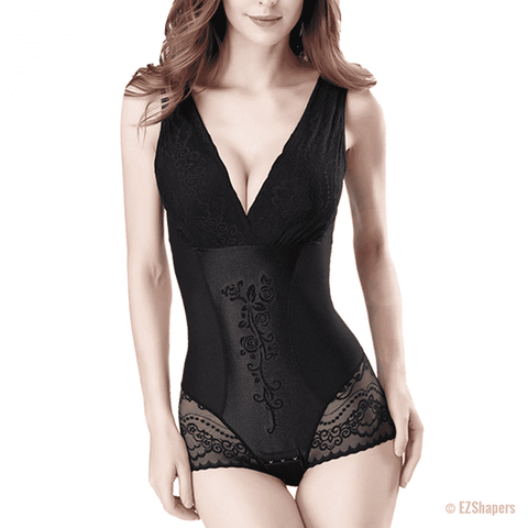 Image of Sexy Deep V Lace Body Shaper