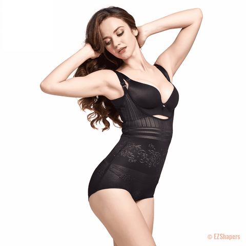 Image of Contouring Bodysuit Shaper With Lace Detail