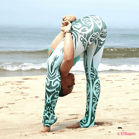 Image of Winter Autumn Totem Printing Leggings