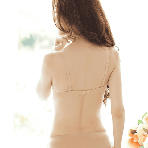Deep U Low Cut Backless Bra