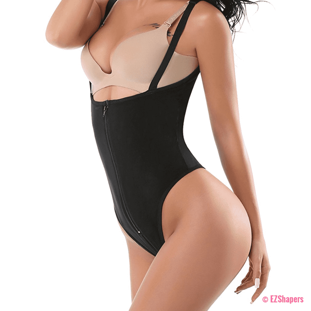 Waist Trainer Clips & Zipper Bodysuit