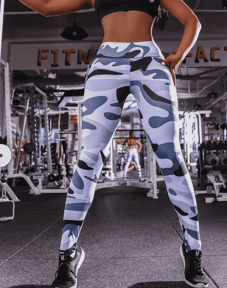 Camouflage Seamless Gothic Yoga Pants