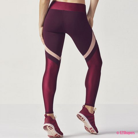 Image of Patchwork Wine Leggings