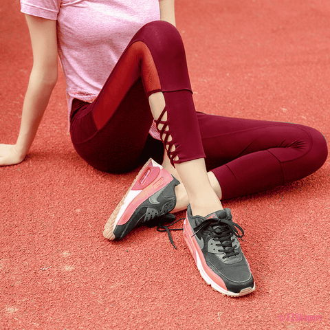 Image of Side Cross Breathable Leggings