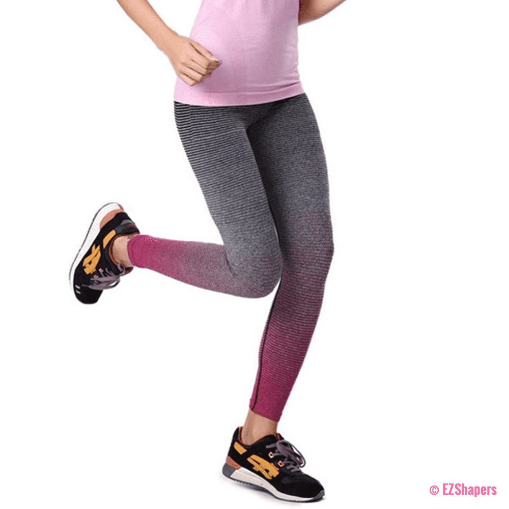 Gradient Elastic Stretch Leggings