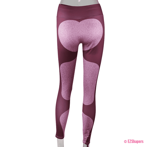 Image of Bodybuilding Heart Patchwork Leggings