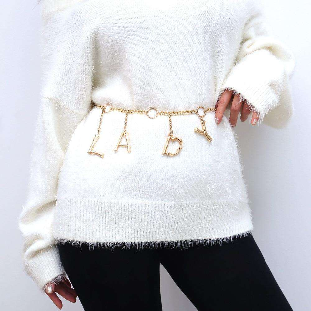 Sexy Metal Letter Belly Chains