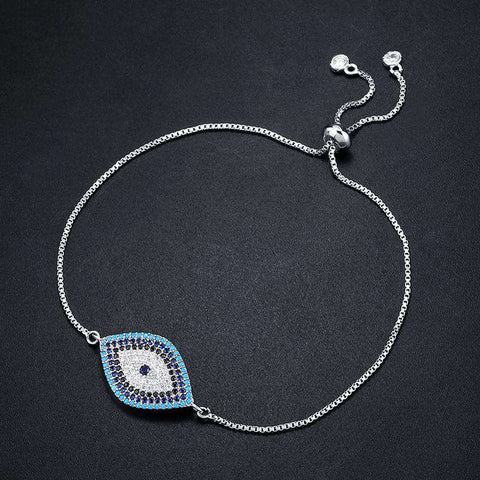 Image of CZ Blue Evil Eye Bracelet