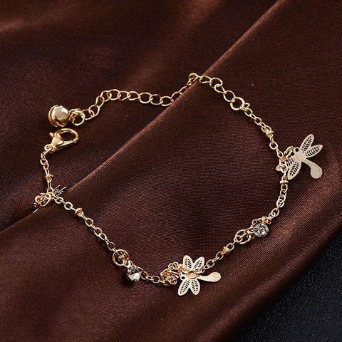 Image of Dragonfly Crystal Anklets