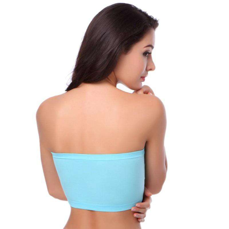 Double Layers Strapless Bra