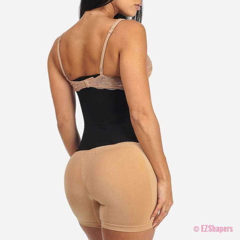 Stretchy Waist Trainer With 6-Row Hoop-and-Eye Closure