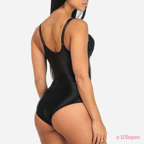 Waist Trainer With Lace Detail & Easy Hook-and-Eye Closure