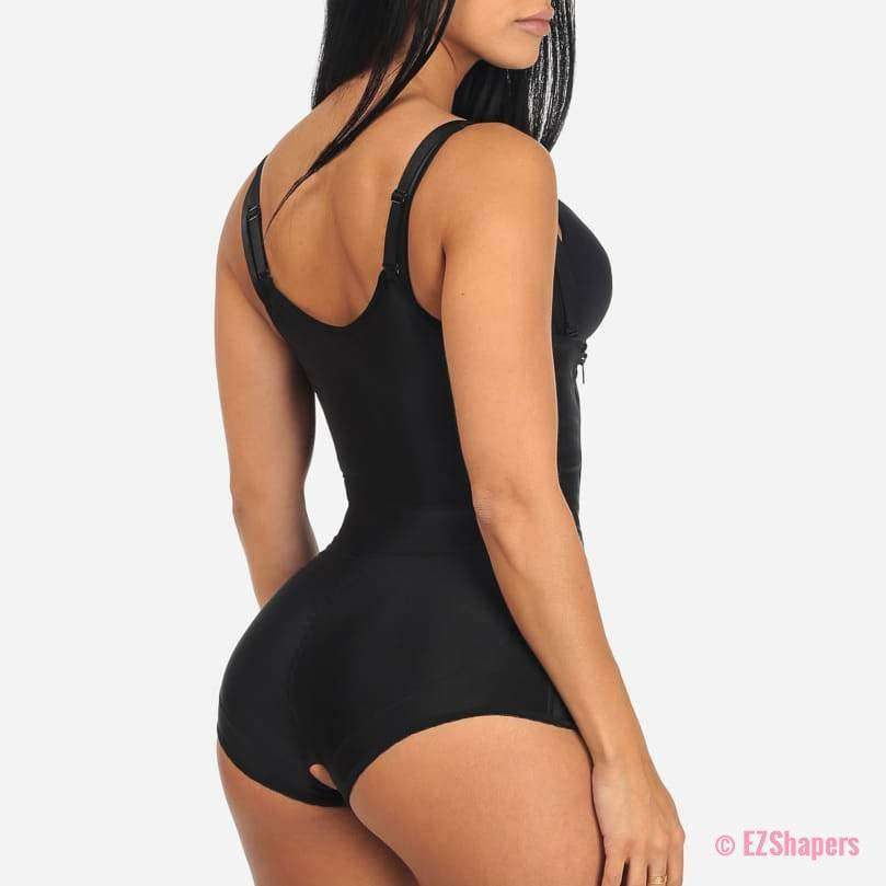 Tummy Boxer Shaper Bodysuit With Side Zipper Closure