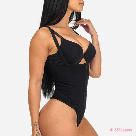 Image of Bodysuit Shaper With Hook-and-Eye/Zipper Closure