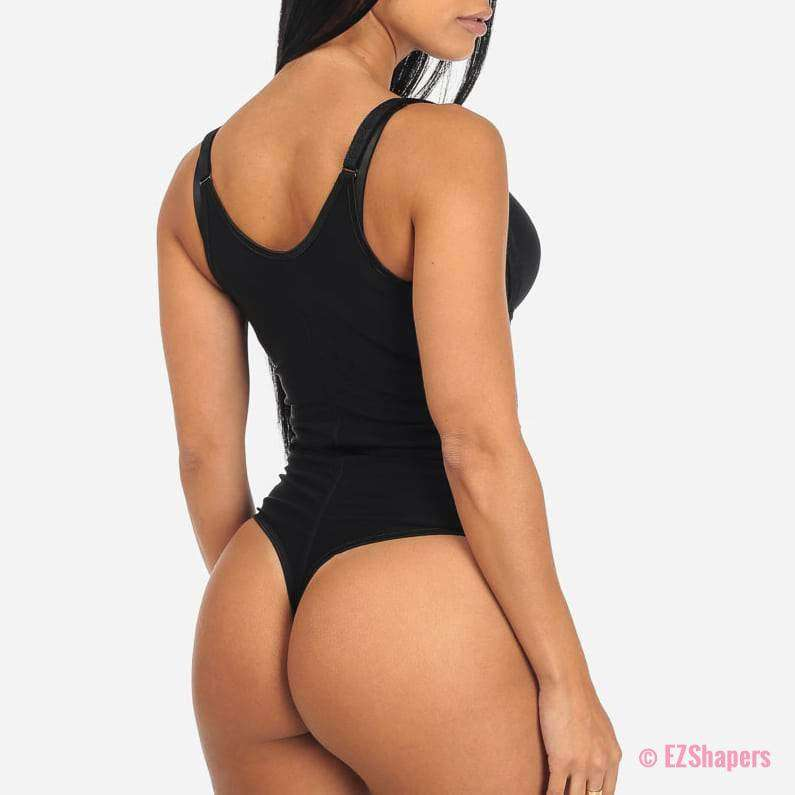 Bodysuit Shaper With Hook-and-Eye/Zipper Closure
