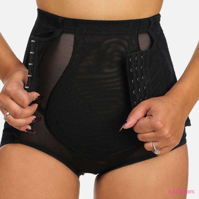 Slimming High Waist Shaper with Hook-and-Eye closure & Lace Detail
