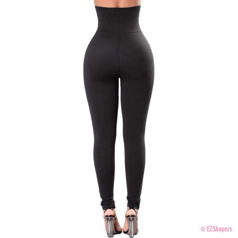 Image of High Waist Elastic Corset Belt Strappy Slim Leggings