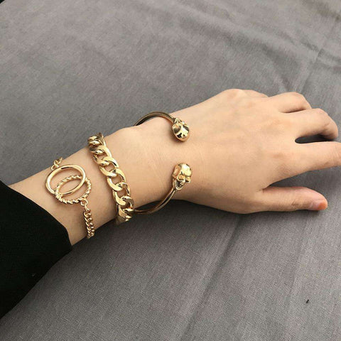 Image of Vintage Metal Skeleton Bracelets