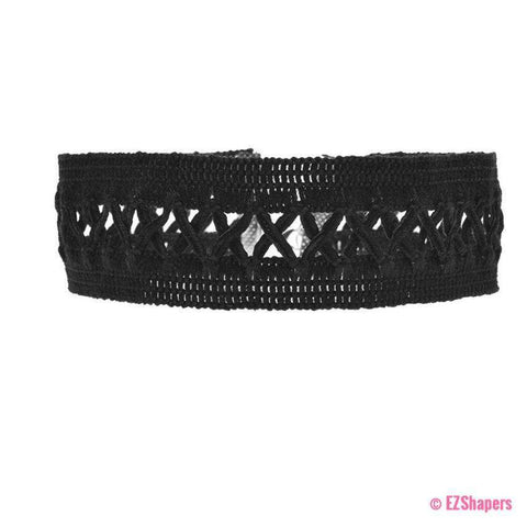 Image of Black Lace Wave Choker Necklace