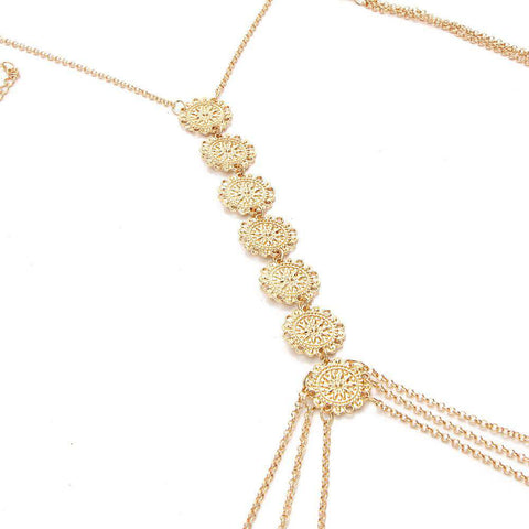 Bohemian Flower Body Chain