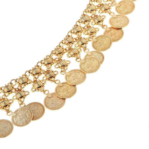 Image of Vintage Coins Tassels Belly Chain