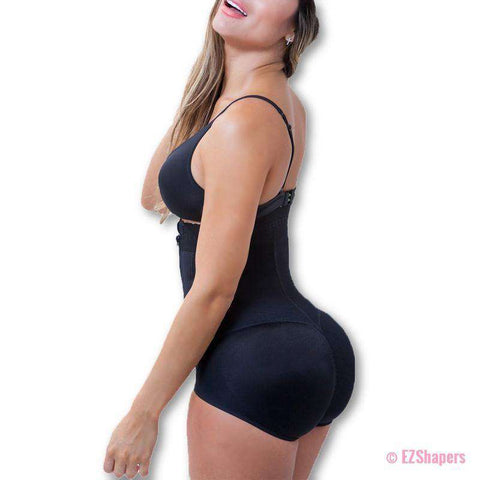 Image of Liposuction Girdle Bodysuit With Clip and Zip Closure
