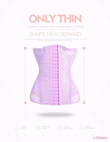 Image of Lace Slimming Waist Trainer With Front Hook-and-Eye Closure