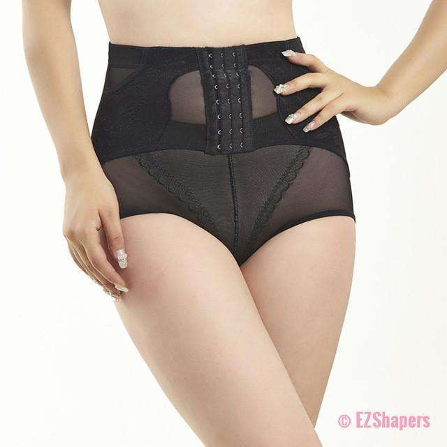 High Waist Lace Waist Enhancer with Front Hook-and-Eye Closure