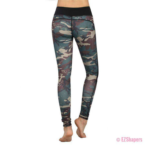 Image of Workout Camouflage Slim Leggings