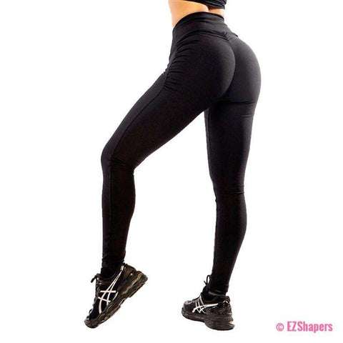 Image of Black Slimming Push Up Leggings