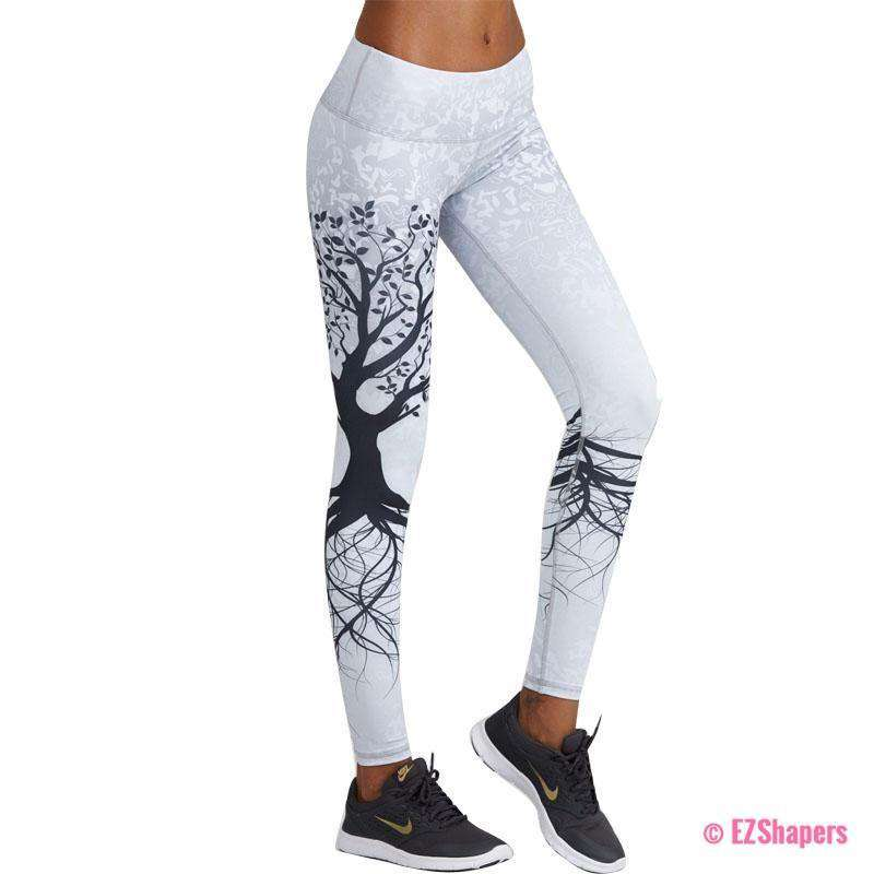 Workout Life Tree Printed Leggings