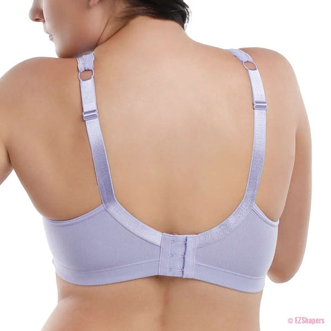 Image of Cotton Non Padded Lace Trim Plus Size Bra