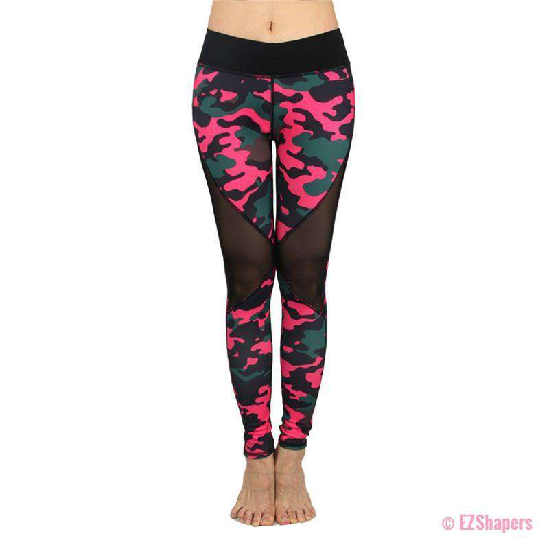 Workout Pink Camouflage Leggings
