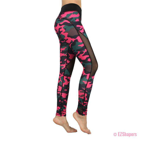 Image of Workout Pink Camouflage Leggings