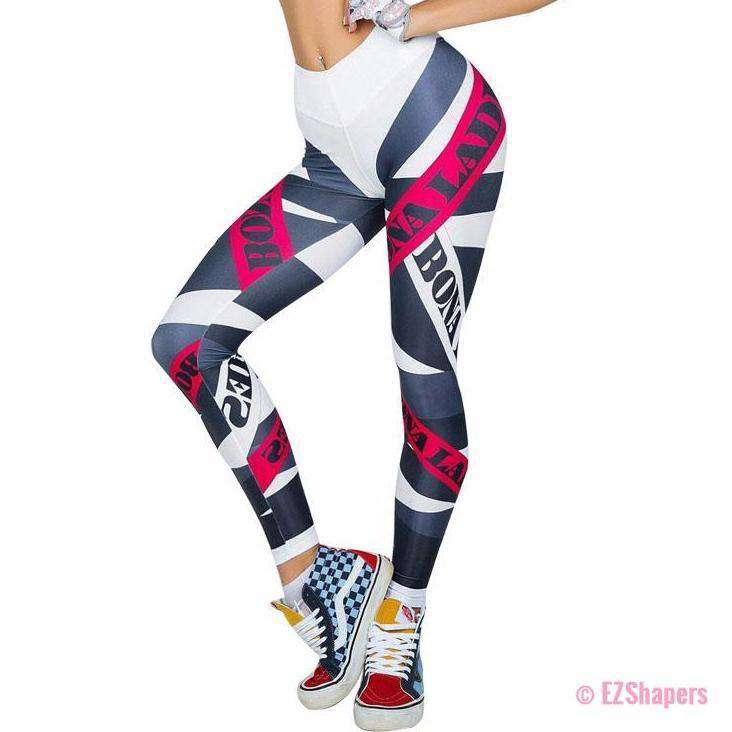 Sexy Push Up Leggings High Waist Printed