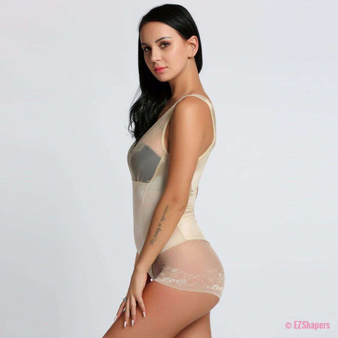Image of Slim Body Underbust Shaper with Lace Details and Hook-eye-closure