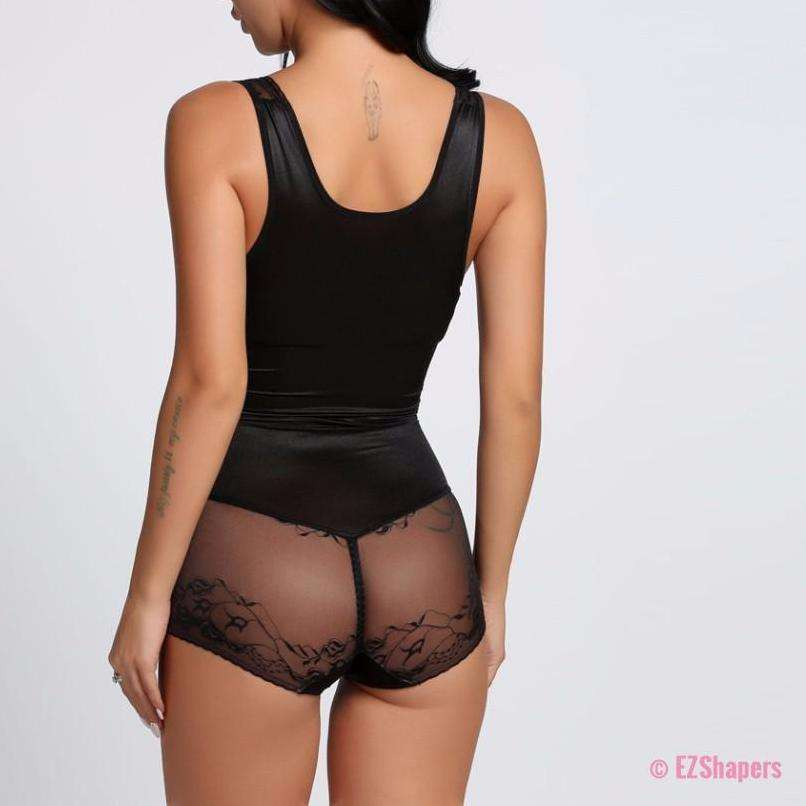 Slim Body Underbust Shaper with Lace Details and Hook-eye-closure