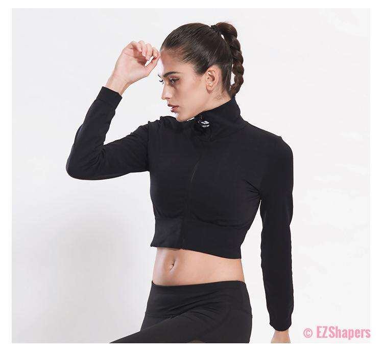 Workout Zipper Short Jacket