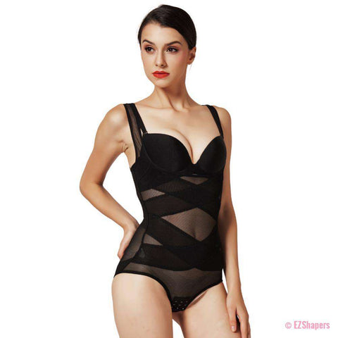 Image of Audacious Slimming Bodysuit with Hook & Eye Closure